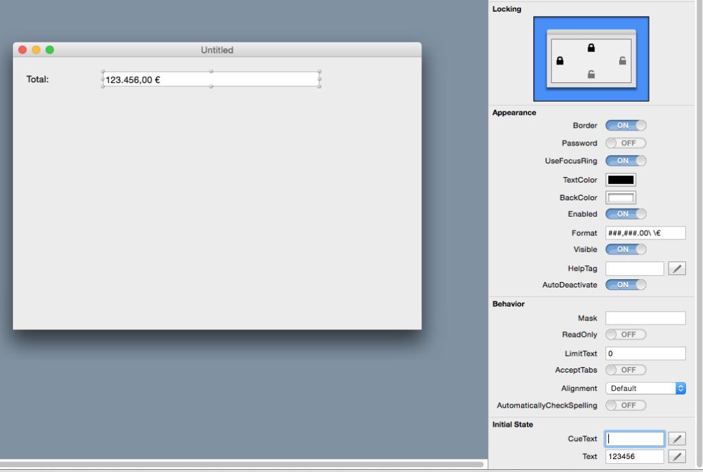 TextField con Formato aplicado