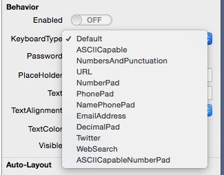 Selección de tipo de teclado en iOS