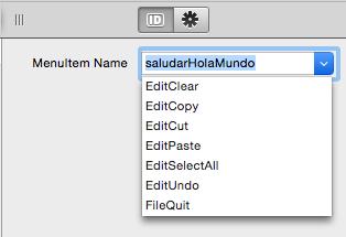 Asignar nombre de MenuItem para la ejecución de código en un Menu Handler