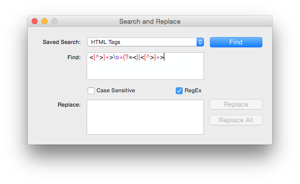 Find and Replace Panel with RegEx support.