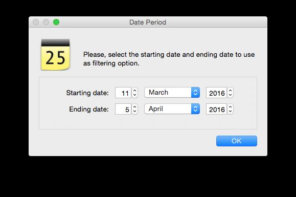 Filtering Date Window