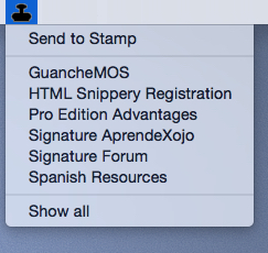 Increase your productivity with Stamp:  Finder Menu