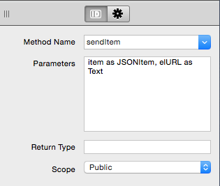Definición del método SendItem para la clase basada en HTTPSocket