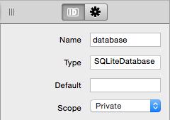 Propiedad apuntando a instancia SQLIte