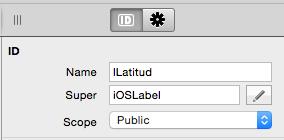 Asignación de nombre en etiqueta para ejemplo iOSLocation.