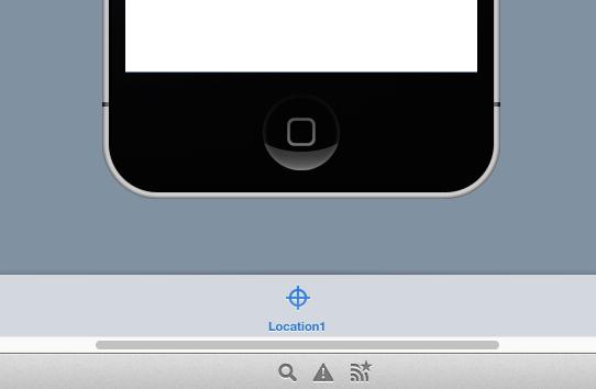 Instancia de iOSLocation añadida a la Bandeja del Editor de Vistas.