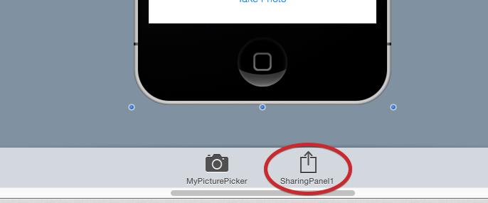 iOSSharingPanel en el Tray
