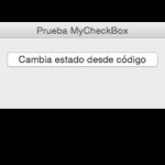 Subclase CheckBox: comportamiento desde Evento y código