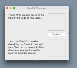 DrawInto: app de ejemplo en el IDE